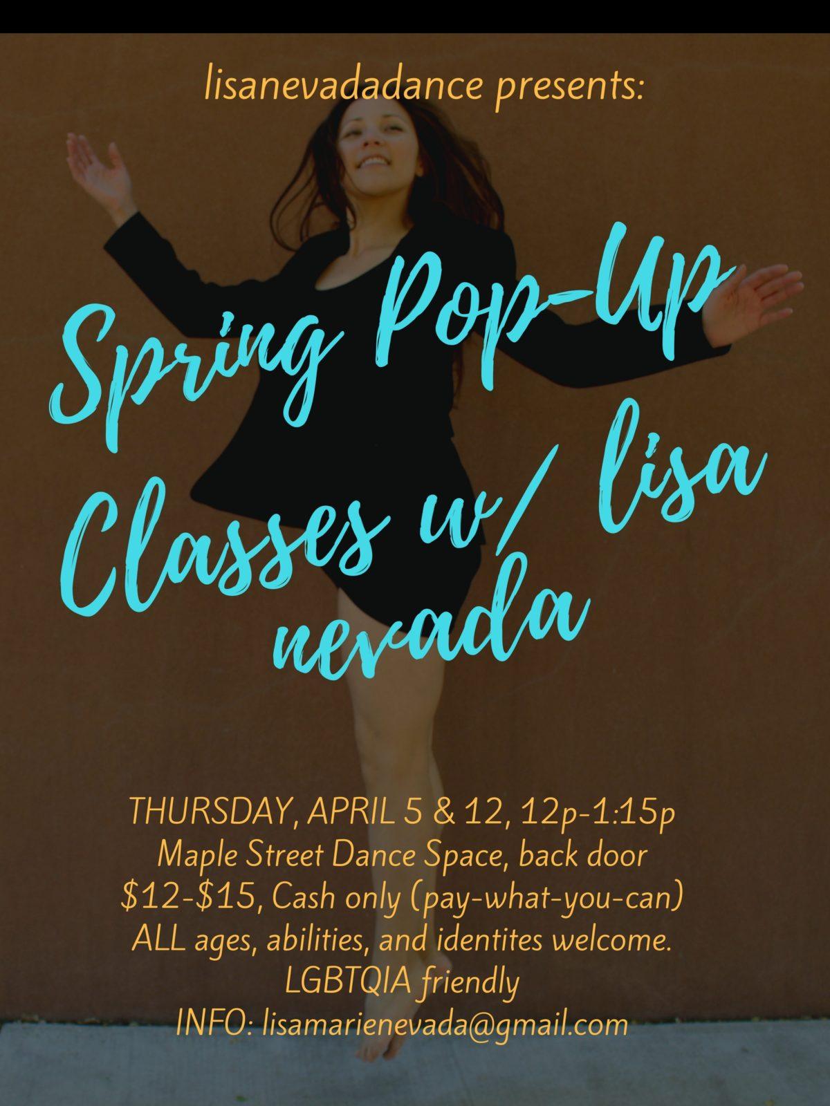 Spring Pop Up Classes_APRIL 2018_Daytime
